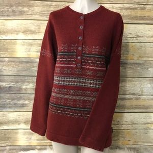 Woolrich Vntg Lambs Wool Fair Isle Sweater Large